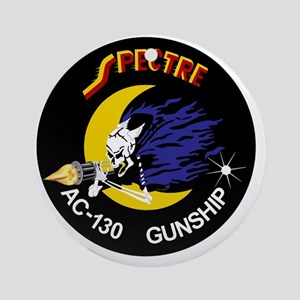 AC-130 Spectre Gunship Round Ornament